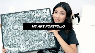 One of CatCreature's most viewed videos: My Art // Accepted RISD & PARSONS Portfolio