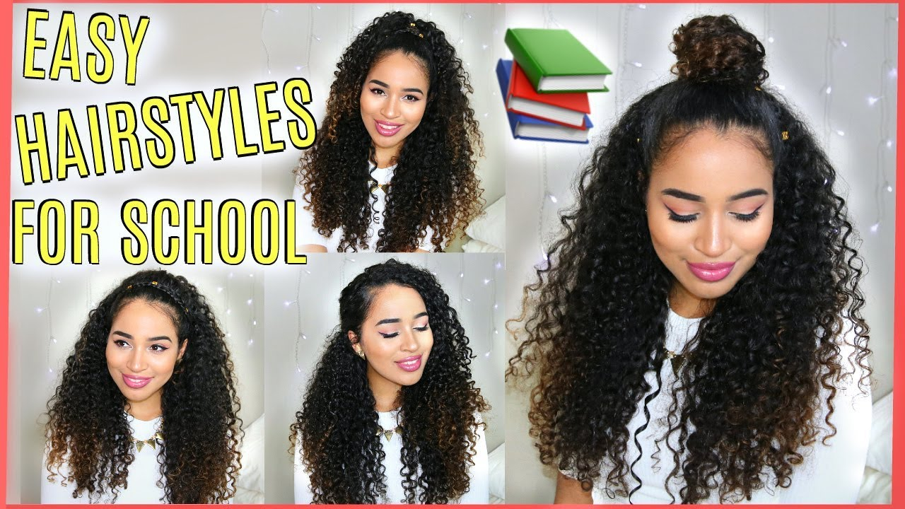 4 Buildable Back To School Hairstyles For Naturally Curly Hair