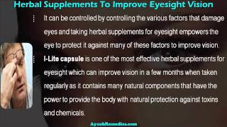 Proven Herbal Supplements For Eyesight To Improve Vision