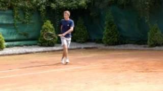 Krzysztof Stempien College Tennis Recruiting Video Part 1