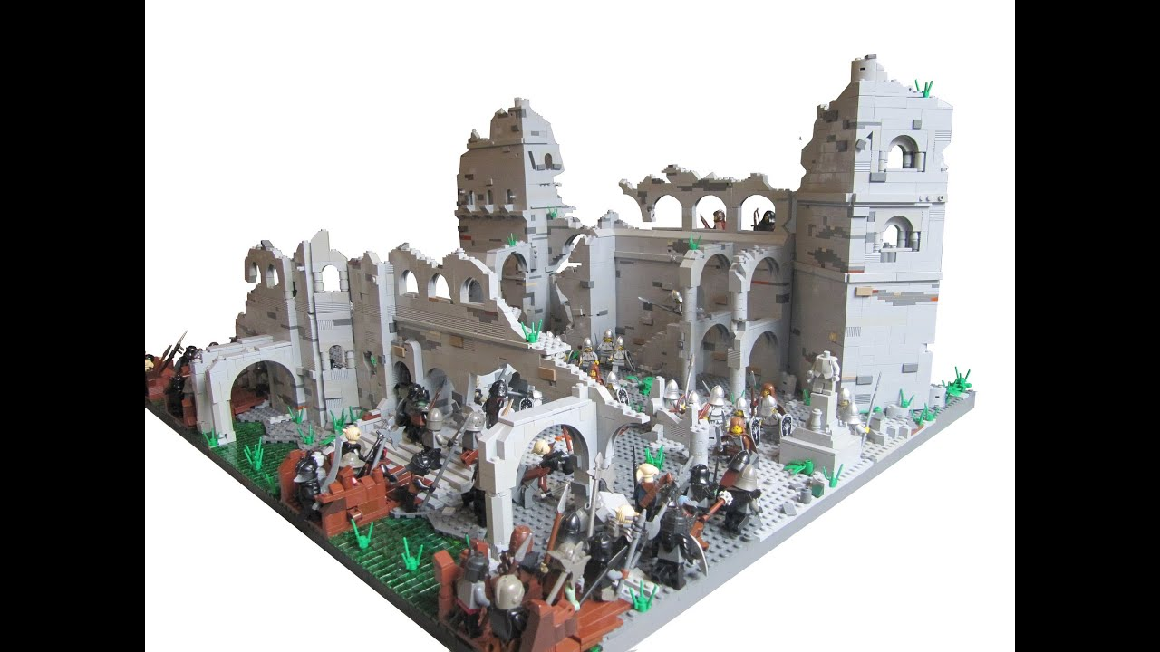 Chess Table Lego Lord Of The Rings Osgiliath 2 0 Youtube