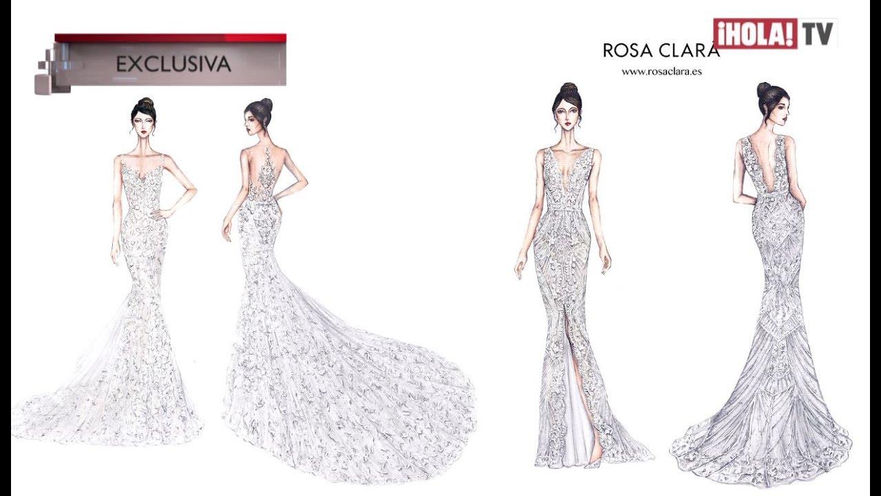 Rosa Clará Presenta Los Bocetos Del Vestido De Novia De Antonella Pareja De Messi La Hora Hola