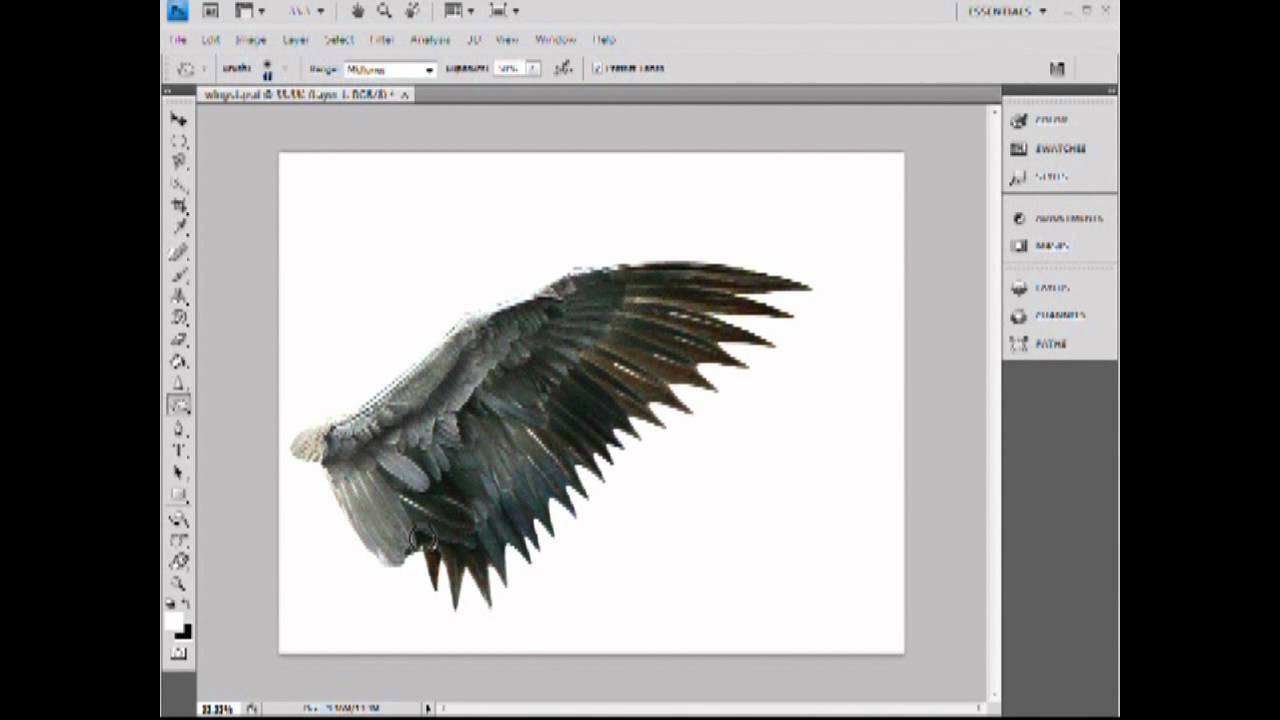Photoshop tutorial wings youtube baditri Image collections