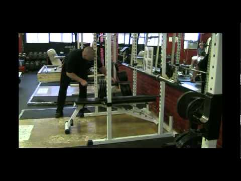 Adjusting The Power Rack And Safety Bars For The Bench Press