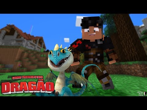 BEBÊ DRAGÃO NASCEU - COMO TREINAR O SEU DRAGÃO 11 - Minecraft