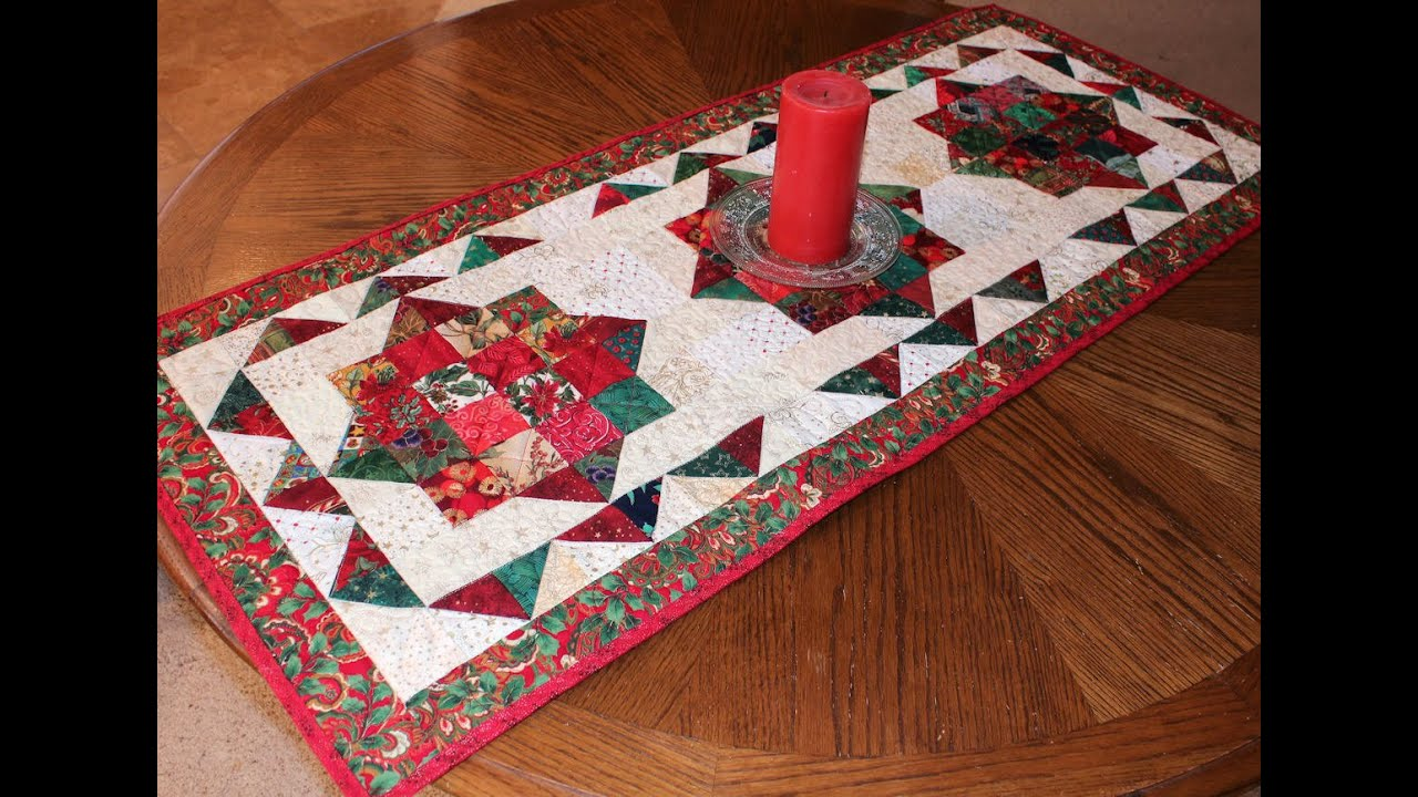 christmas table runner youtube. Black Bedroom Furniture Sets. Home Design Ideas