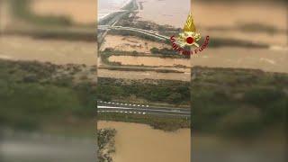 Maltempo in Sardegna, Capoterra allagata: le immagini dall'elicottero