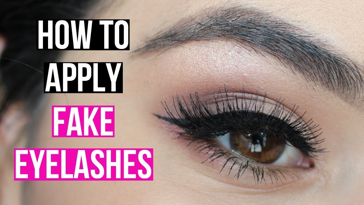 How To Put On Fake Eyelashes Youtube
