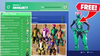 THE NEW *FREE* SKIN AND ITEMS IN FORTNITE! SINGULARITY SKIN & 14 DAYS OF SUMMER!