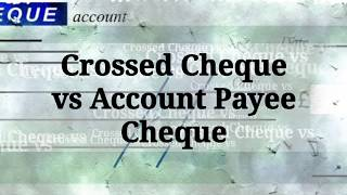 What is Bearer Cheque ! Account Payee Cheque and Crossed Cheque