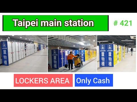 LOCKERS in Taipei main station | Taiwan | 2020 | - YouTube