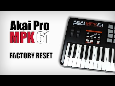 Akai MPK and MPD Factory RESET