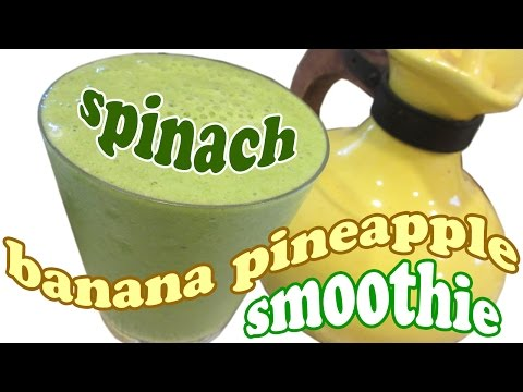 Spinach Smoothie Recipes - Green Smoothie - Breakfast Healthy Smoothies Fruit Vegetable HomeyCircle