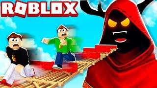 ROBLOX 1v1v1v1 FORTNITE SEASON 7 OBBY with MY LITTLE BROTHER!