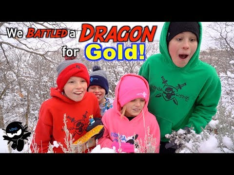 We Battled a Dragon! Search for Treasure X Dragons Gold!