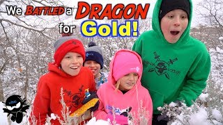 We Battled a Dragon! Search for Treasure X Dragon's Gold!