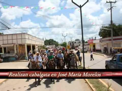 REALIZAN CABALGATA EN JOSé MARíA MORELOS