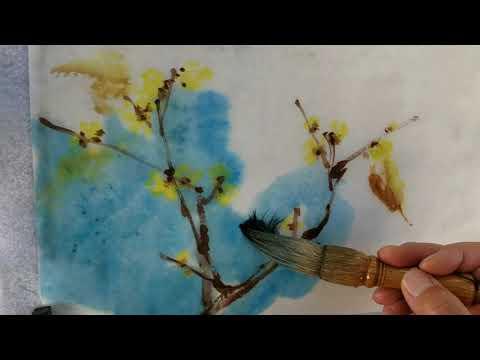 wintersweet-watercolor-on-rice-paper