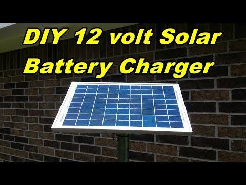 DIY 12 volt solar battery charger