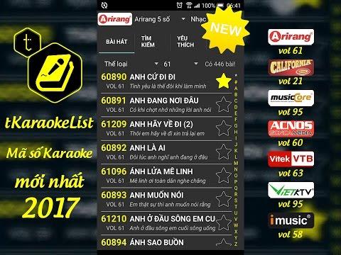 Mã số Karaoke Arirang vol 61 🎤 tKaraokeList