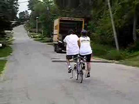 Side By Side Tandem Bicycle Youtube