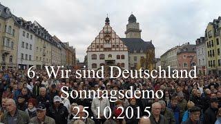 Wir sind Deutschland Kundgebung Plauen vom 25.10.2015 | 6. Sonntagsdemo