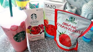 Recreating Starbucks Drinks At Home || The Pink Drink