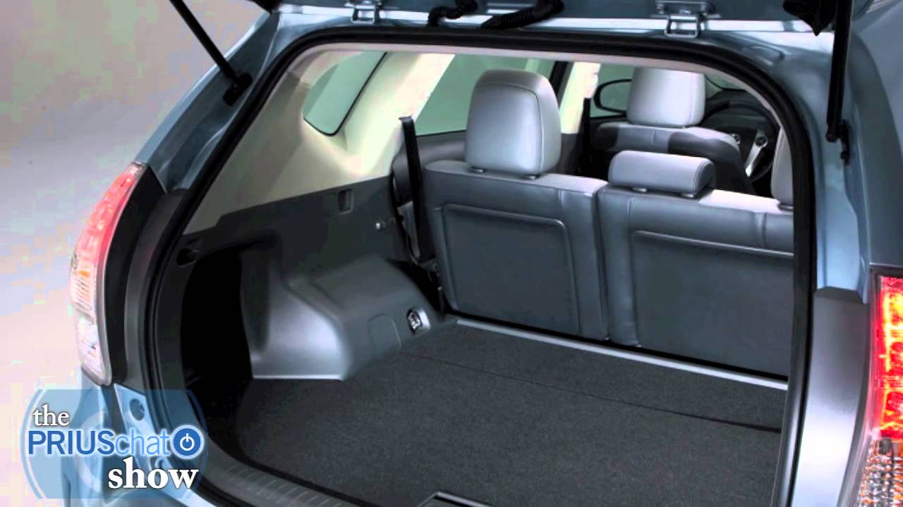 2012 Toyota Prius V Video Review Interior Cargo Space