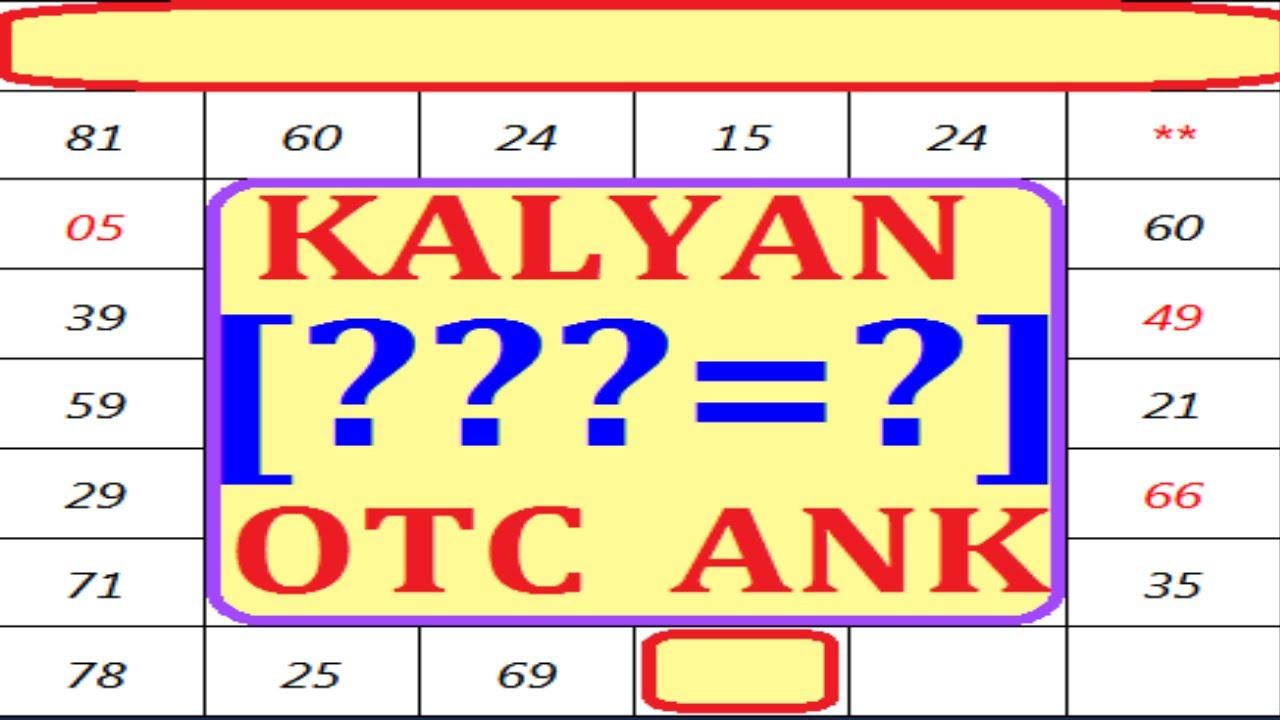 Kalyan Open To Close With Pana 24-09-2020