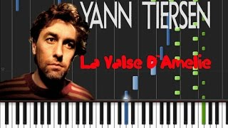 Yann Tiersen - La Valse D`Amelie [Synthesia Tutorial]