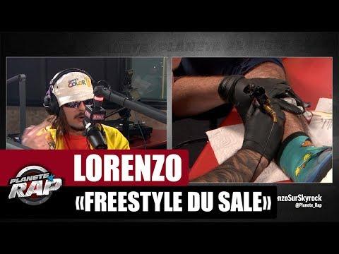 Lorenzo 'Freestyle Du Sale' sous tatouage #PlanèteRap