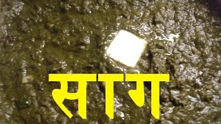 Saag Recipe - Easy Recipe - How To Make Saag With Kale, Broccoli, Spinach (in Hindi)