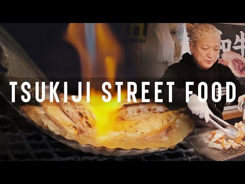 FRESH SEA FOOD From Tsukiji Fish Market, Tokyo | Japanese Street Food
