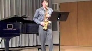 Movement 3: Handel Sonata Op.1, No. 13, arranged for Alto Saxophone and Piano