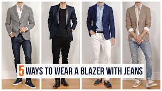 How to Wear A Blazer With Jeans | Casual Men's Fashion | Spring Outfit Inspiration