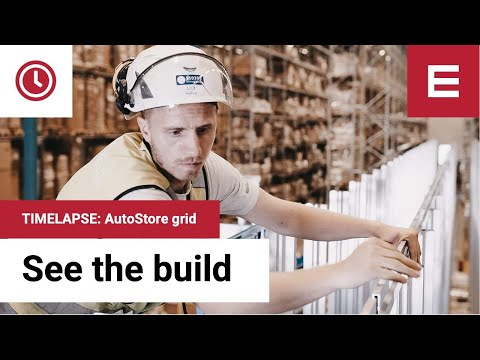 Element Logic: Time lapse of Element Logic's AutoStore Construction at Boozt in Ängelholm, Sweden.