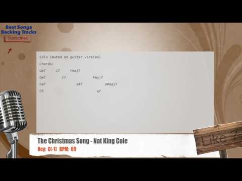 The Christmas Song - Nat King Cole Vocal Backing Track with chords and lyrics