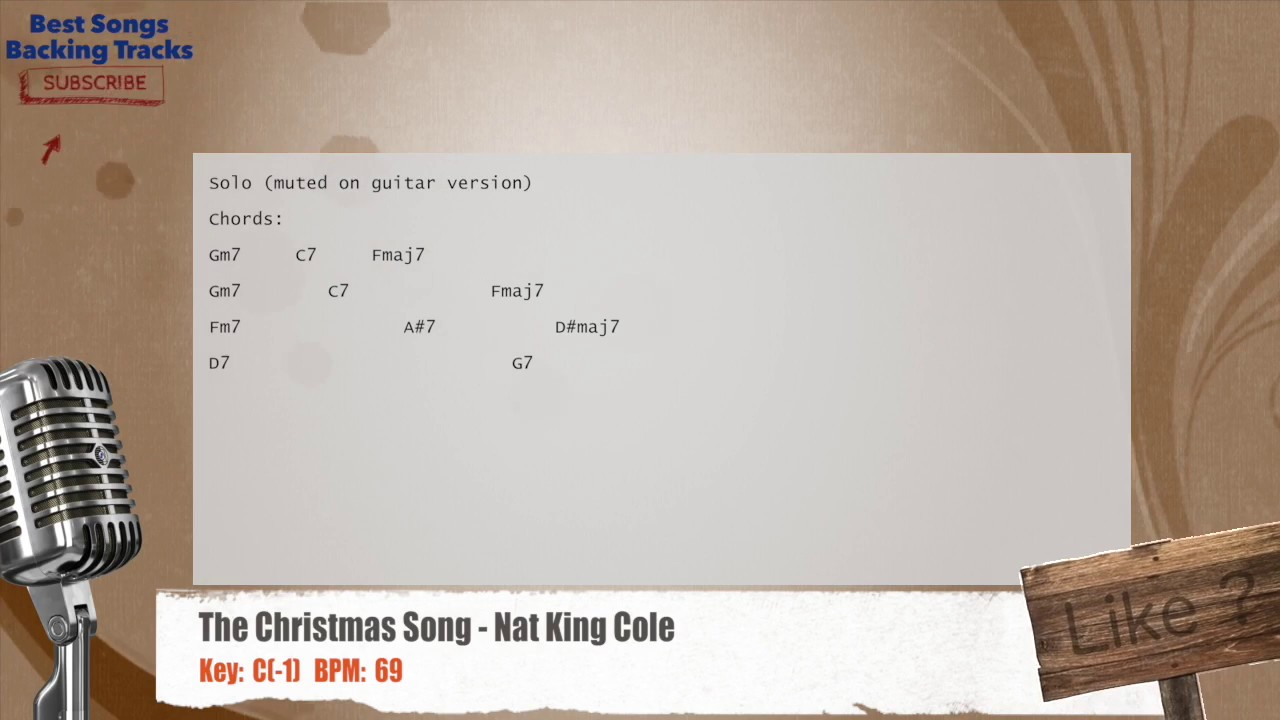 The christmas song nat king cole vocal backing track with chords the christmas song nat king cole vocal backing track with chords and lyrics hexwebz Gallery