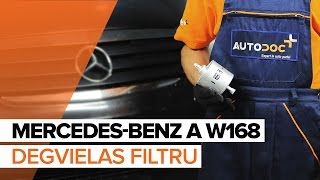 Kā nomainīt MERCEDES-BENZ A W168 Degvielas filtrs [PAMĀCĪBA]
