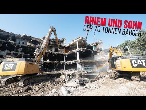 Action Auf Der Baustelle - Unterwegs Mit Dem Team Rhiem & Sohn [Teil 1 In 4K Mit CAT Bagger]