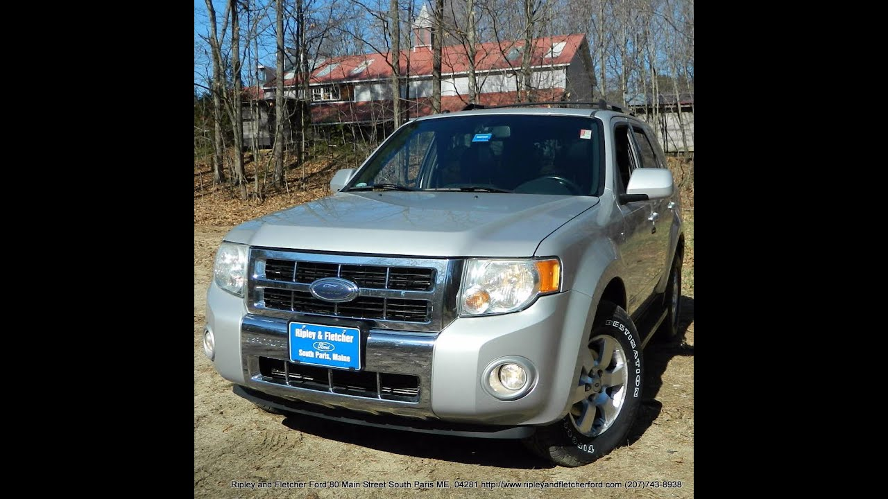 best price used 2008 ford escape limited 4wd for sale near portland maine youtube. Black Bedroom Furniture Sets. Home Design Ideas