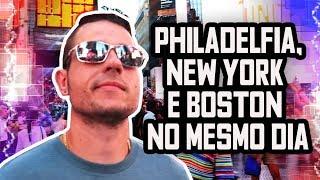 FUI NA PHILADELFIA, NEW YORK E BOSTON NO MESMO DIA- CORRERIA NOS EUA - Boston