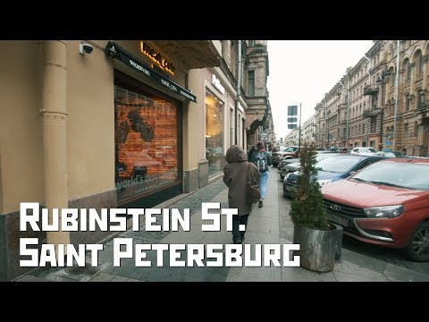 Rubinstein St., The Main Restaurant Street of St. Petersburg, Russia
