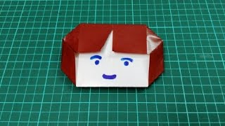 How to make origami paper girl face | Origami / Paper Folding Craft, Videos & Tutorials.