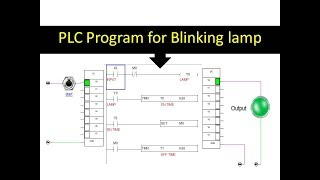 PLC PROGRAMMING FOR BLINKING LAMP ! FLASHING LIGHT ! Interval