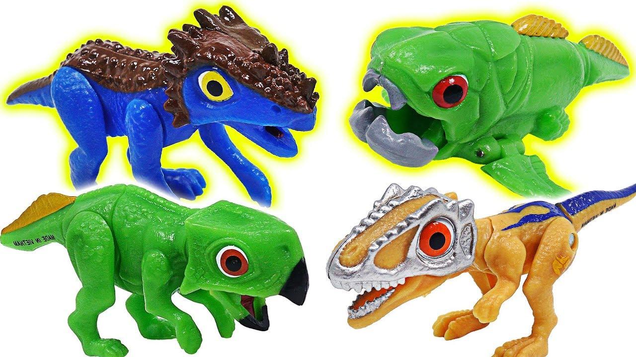 Dino Mecard new tiny dinosaur Psittacosaurus, Dunkleosteus, Dracorex, appeared! #DuDuPopTOY