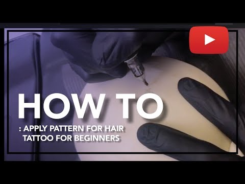 HOW TO APPLY PATTERN FOR HAIR TATTOO FOR BEGINNERS