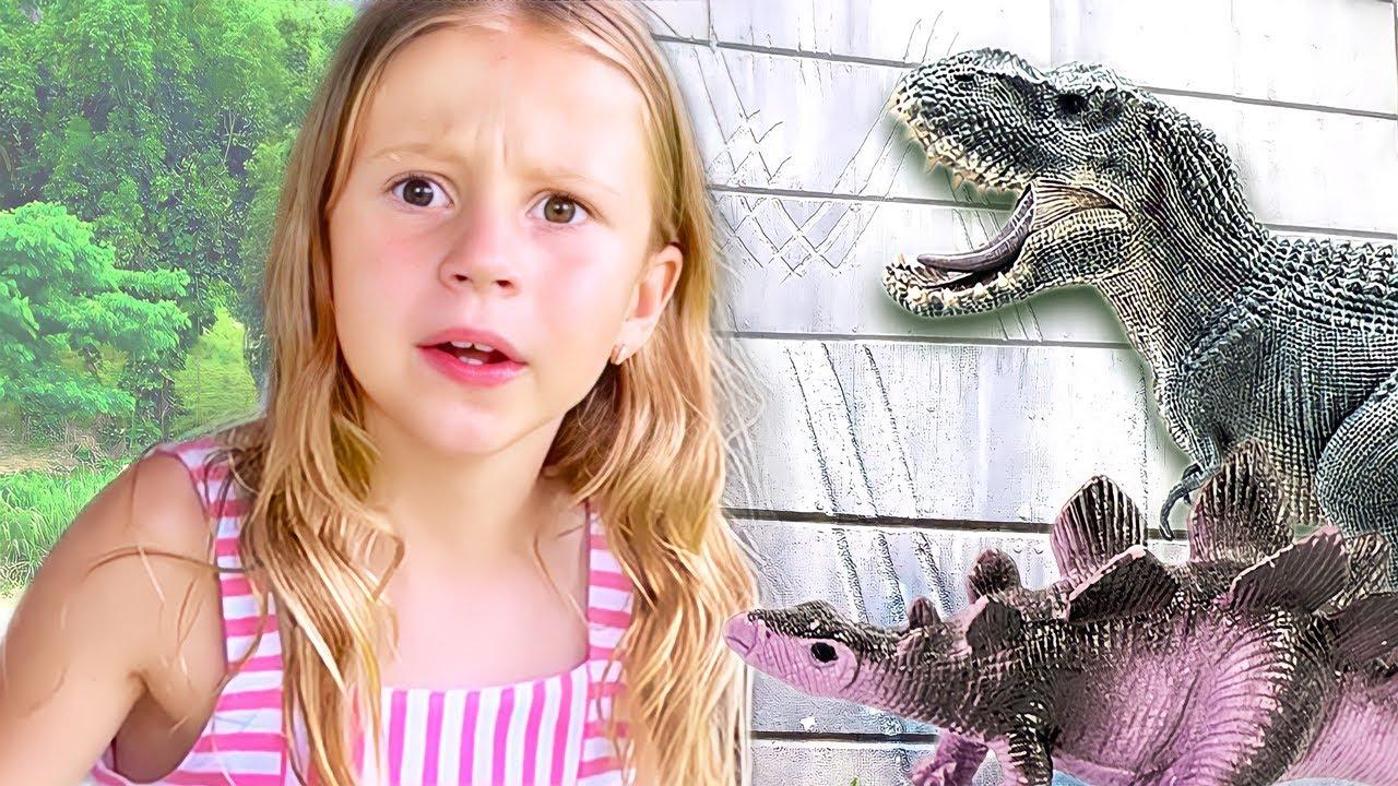 Nastya and Dad visit Jurassiс park in Hawaii. Story for kids