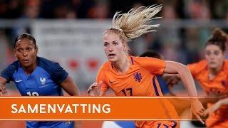 Highlights OranjeLeeuwinnen - Frankrijk