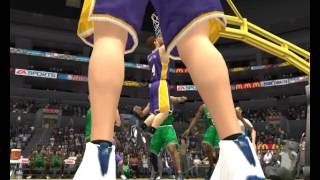 NBA Live 2004 Lakers Dynasty 2005 Playoffs Finals Game 6 (vs. Boston)